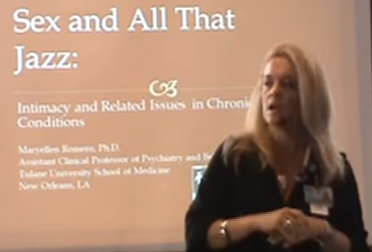 "Dr. Maryellen Romero, Ph.D., CIP, a Clinical Neuropsychologist from the Department of Psychiatry and Behavioral Sciences at Tulane University's Health Sciences Center, gave the audience a great presentation on ""Sex and All that Jazz"" as it relates to Kennedy's Disease and then hosted separate breakout sessions for the men and women."
